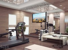 Тренажерный зал. Вид 1 Home Gyms - amzn.to/2hoGXRy Sports & Outdoors - Sports & Fitness - home gym - http://amzn.to/2jsMKm8