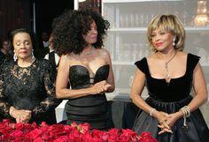 oprah legend ball- mrs coretta scott king checking out diva diana ross and dame tina turner
