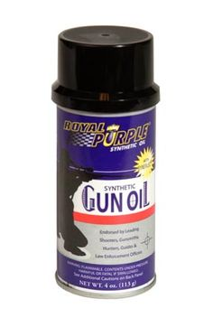 Royal Purple Synthetic Gun Oil is an advanced, high performance lubricant that is specifically formulated to provide exceptional wear protection as well as protection against saltwater and rust corrosion. It also prevents fouling. #RoyalPurple