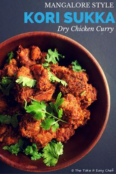 Kori Sukka / Chicken Sukka (Mangalore Style Dry Chicken Curry) – The Take It Easy Chef Indian Chicken Recipes, Veg Recipes, Curry Recipes, Indian Food Recipes, Dinner Recipes, Cooking Recipes, Healthy Recipes, Chicken Recepies, Starter Recipes