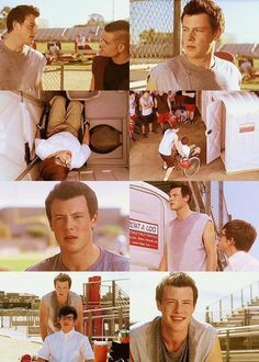 Finn getting Artie out of the Portapotty Glee Cast, It Cast, Finn Hudson, High School Life, Cory Monteith, Anti Bullying, Great Tv Shows, Television Program, Por Tv