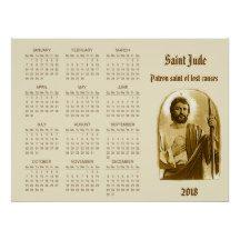 St. Jude 2018 Catholic Calendar Poster