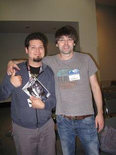 Locke & Key writer Joe Hill with a fan at WonderCon 2012 in Anaheim. Photo by Amy Galante