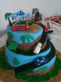 First responders cake side view by Vooc