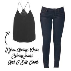 Update your skinny jeans and cami GNO look by trying an off-the-shoulder top and cropped flares.