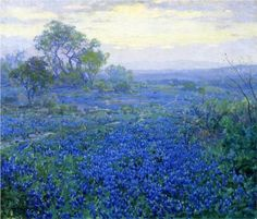 A Cloudy Day, Bluebonnets near San Antonio, Texas - Robert Julian Onderdonk