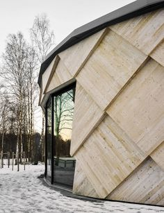 Tengbom's completes pine cone-inspired trail centre in a Swedish nature reserve