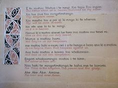 The Lord's prayer in Maori and its translation. Took this at a church in Christchurch. Maori Songs, Monkey Drawing, Maori Symbols, Matou, Maori Art, God Prayer, Math Worksheets, Teacher Resources, Bible Verses