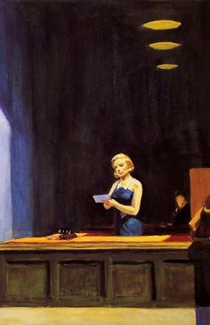 Edward Hopper - New York Office (detail) - 1962