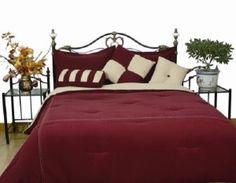 burgundy comforter set