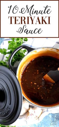 Homemade sauce is always better and you can't beat this 10 Minute Teriyaki Sauce! Chances are you'll have everything you'll need right in your pantry! Easy Teriyaki Sauce Recipe, Chicken Teriyaki Sauce, Teryaki Sauce Recipe, Teriyaki Sauce Healthy, Terriyaki Beef, Ginger Beef, Ginger Sauce, Sauce Recipes, Sauces