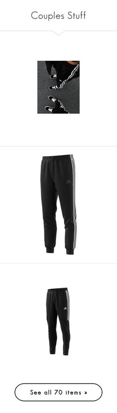 """""""Couples Stuff"""" by angeloutofdarkness ❤ liked on Polyvore featuring activewear, activewear pants, bottoms, pants, black, adidas, adidas activewear, logo sportswear, adidas sportswear and men's fashion #activeweartrends"""