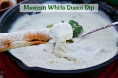 Mommy's Kitchen - Recipes From my Texas Kitchen: Mexican White Queso Dip for Game Day