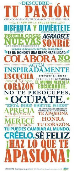 Disfruta y haz lo que te apasiona! :) #umayor #motivaciones #estudiantes