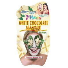 Montagne Jeunesse White Chocolate Ultra Deep Cleansing Masque. Cocoa Butter & Cream. 17g.   The 7th Heaven face masks don't get more popular than our mud mask collection. Enriched with nourishing active ingredients, these face masks deeply clean your face and pores leaving your skin fresh, clean and glowing. Look out for the hydrating face mask symbol on our mud mask range for a rich nourishing facial.