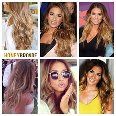 jessie james decker inspired honey blonde and carmel tip died ombre mixture = beautiful.