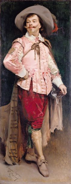 "Portrait of Constant Coquelin l'aîné (1841-1909), by Raimundo de Madrazo y Garreta [Spanish 1841-1920]......Benoît-Constant Coquelin was a French actor, ""one of the greatest theatrical figures of the age."""