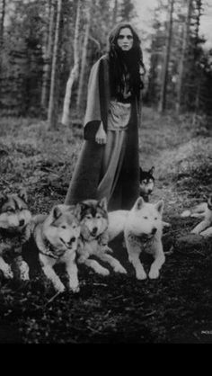 """Those are the voices of my brothers, darling; I love the company of wolves"" -Angela Carter < girl with wolves She Wolf, Wolf Girl, Wolf Spirit, My Spirit Animal, Der Steppenwolf, Potnia Theron, Husky, Angela Carter, Wolves And Women"