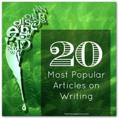 20 Articles on Writing, Self-Publishing & Book Promotion