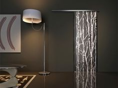 Artistic Glass interior sliding doors with fascinating designs