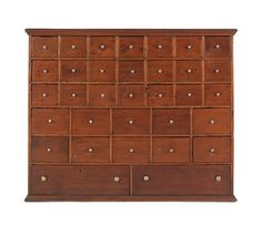 Pine apothecary cabinet, 19th c., 40 1/2'' h., 49'