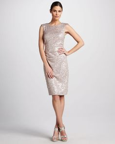 Sequined Cocktail Dress with Back Bow - Lyst