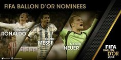 WHO WILL WIN THE BALLON D'OR?!? Ronaldo. Messi.Neuer.  I say ( with respect ) #NeuerForBallonDor