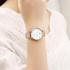 The enticing thing about this waterproof simple watch for women is the silver or rose gold color finish that makes it a stylish pair for almost every color outfits. The Japanese quartz movement is precise and the watch will stay as your time-telling partner for years.  #simplewatcheswomen #femalewatches #simplewatcheswomensilver Rose Gold Color, Silver Color, Female Watches, Waterproof Watch, Colourful Outfits, Or Rose, Fashion Watches, Quartz, Pairs