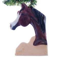 Arabian Horse Christmas ornament  beautiful bay by Christmaskeeper, $13.95