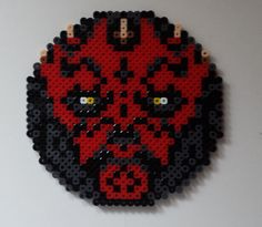 Star Wars Darth Maul coaster perler beads by Joanne Schiavoni