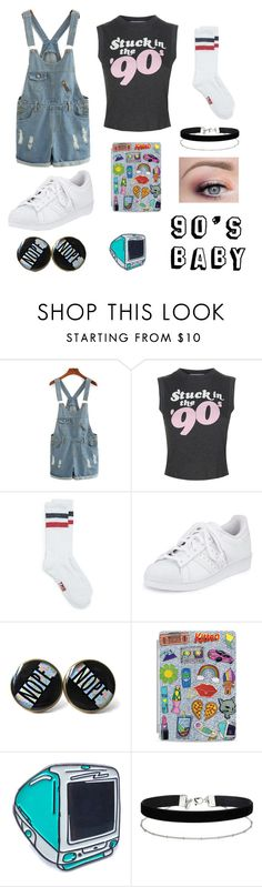 """""""90's Through and Through"""" by donimite ❤ liked on Polyvore featuring Wildfox, adidas, Casetify, Laser Kitten and Miss Selfridge"""
