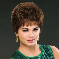 The Tally Wig by Basics brand is available now at The Wig Company. Order by EST Monday - Friday for Same Day Shipping! Short Pixie Wigs, Short Permed Hair, Short Pixie Haircuts, Permed Hairstyles, Long Hair Cuts, Really Short Hair, Hair Styles For Women Over 50, Short Hair With Layers, Tips Belleza