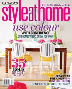 Maria Killam on the Cover of Style at Home | See all the before's and after's here.
