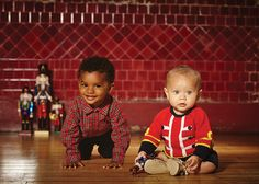 Baby London It's Show Time shoot - Rachel Riley tartan shirt and Stella McCartney Kids jumper
