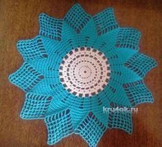 Вязаная салфетка. Работа Алены. вязание и схемы вязания