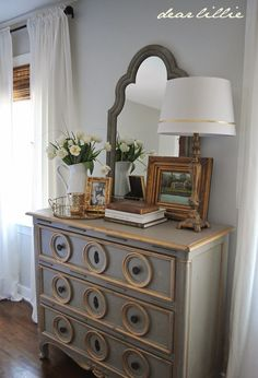 Master Bedroom Dresser Vignette | Bedroom dressers, Dresser and ...