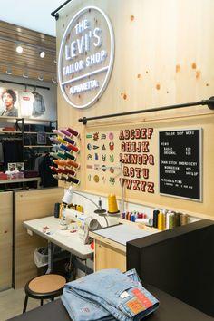 The Levi's Tailor Shop in Alpharetta, GA - A Southern First via @dcwdesign blog.