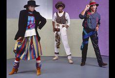 Former Soul Train dancers and R & B group Shalamar (L-R Jody Watley, Jeffrey Daniel and Howard Hewett) pose for a portrait on October 7, 1982 in Los Angeles, California.