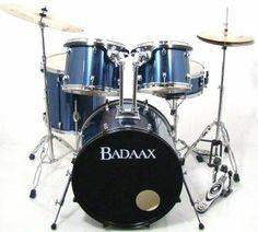 Badaax Formula 5 Piece Drum Set w/ Hardware Blue Steel by Badaax. $269.99. The Badaax Formula drum set is loaded with professional features such as suspension tom mounts, folding bass drum spurs and a matching wood snare drum! The precision cut bearing edges on mahogany shells make these drums a dream to tune while the low mass lugs allow for maximum resonance. Toms are fitted with clear heads while the snare has a coated batter head. The bass drum features folding spurs...