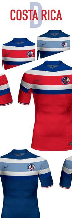 e9f3f6e4a3e Costa Rica. World Cup. Group D. Concepts on Behance New Football Shirts,