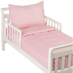 4 Piece Toddler Bedding Set - Pink Dots & Solid by American Bedding Company American Baby Company http://www.amazon.com/dp/B000YFU790/ref=cm_sw_r_pi_dp_cR6axb0E4K0HF