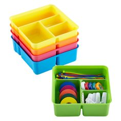 Smart Store 4-Compartment Tray | The Container Store