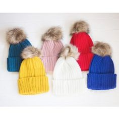 Solid Color Pom Beanie $12.99