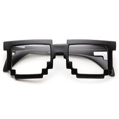 Fancy - Pixel Clear Lens Glasses