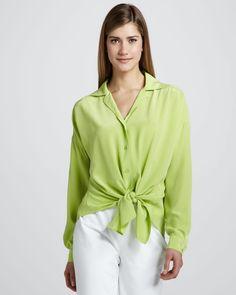 http://ncrni.com/lafayette-148-new-york-crepe-tiehem-blouse-appletini-p-3703.html