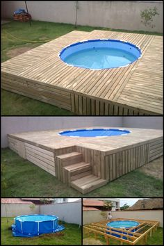 How would you like to have a great looking above-ground swimming pool in your own yard this summer? As with all things, the quality of the swimming pool you can have depends on how much you're willing to spend on it.   If you're looking for a pool that offers the best look at the lowest cost, then this DIY project is perfect for you.   Head on to our site and learn how to do it.   http://diyprojects.ideas2live4.com/2016/04/07/build-an-inexpensive-above-ground-swimming-pool/