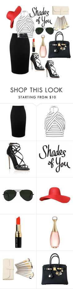 """Untitled #77"" by noa-antebi-pinto on Polyvore featuring Alexander McQueen, Dolce&Gabbana, Ray-Ban, Bobbi Brown Cosmetics, Christian Dior and Hermès"