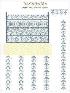 Semne Cusute: iie din BASARABIA - model (8) Folk Embroidery, Learn Embroidery, Cross Stitch Embroidery, Embroidery Patterns, Cross Stitch Patterns, Beading Patterns, Knitting Patterns, Embroidery Techniques, Needlework