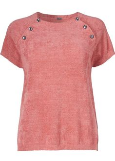 Gustav Sweater 24421 Chenille A-shaped Knit - blush red