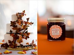 This DIY Minnesota farm wedding came together as a group effort. Tons of friends and family pitched in with the details, from a jam-making fest to . Fall Wedding Cakes, Our Wedding Day, Farm Wedding, Diy Wedding, Rustic Wedding, Dream Wedding, Wedding Ideas, Wedding Stuff, Fall Mountain Wedding